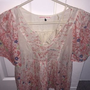 Rebecca Taylor light and airy top with slip